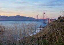Pont en porte d'or et San Francisco Bay Photographie stock libre de droits