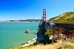 Pont en porte d'or, San Francisco Photos libres de droits