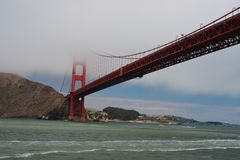 Pont en porte d'or, San Francisco Photographie stock