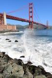 Pont en porte d'or, San Francisco, la Californie photo libre de droits