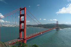 Pont en porte d'or, San Francisco, la Californie, Etats-Unis Image stock