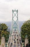 Pont en porte de lions de stationnement de Stanley à Vancouver Photographie stock libre de droits