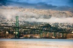 Pont en porte de lions, Vancouver du nord Images stock