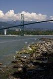 Pont en porte du lion de Vancouver Photographie stock libre de droits