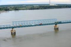 Pont en rail, Novi Sad, Serbie Image libre de droits