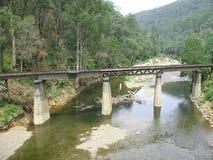 Pont en rail, Walhalla Photos libres de droits