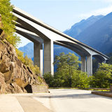 Pont en route Photographie stock libre de droits