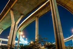Pont en route de Bhumibol Photos stock
