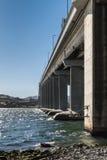 Pont en route de Tasman au-dessus de rivière de Derwent, Hobart Australia photographie stock