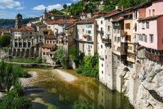 Pont en Royans sławny francuski miasteczko zdjęcia royalty free