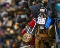 Pont en serrure d'amour Photos libres de droits