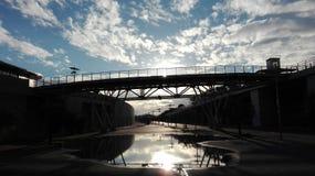 Pont en soleil Image stock