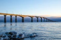 Pont en soleil de matin Images stock