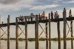 pont en teck Photo libre de droits