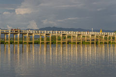 pont en teck Images stock
