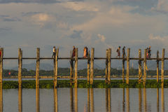 pont en teck Images libres de droits