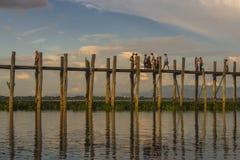 pont en teck Photographie stock