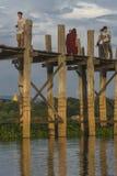 pont en teck Image stock