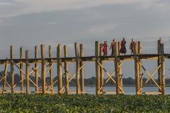 pont en teck Photos libres de droits