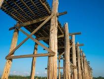 Pont en teck d'U-Bein de pont Photographie stock libre de droits