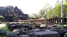 Pont en temple de Siem Reap Cambodge Photographie stock libre de droits