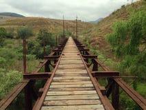 Pont en train Photographie stock