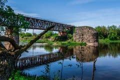 Pont en train Photo libre de droits