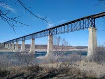 Pont en train Images stock