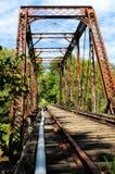Pont en train en métal Image stock