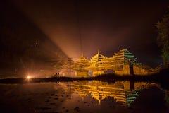Pont en Vent-pluie de Chengyang, région autonome de Guangxi Zhuang Photo libre de droits