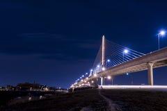 Pont en verre de Skyway de ville de vétérans images libres de droits