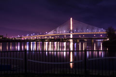 Pont en verre de Skyway de ville de vétérans Photo libre de droits