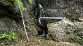 Pont et cascade en fer banque de vidéos
