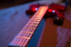 Pont et collecte en guitare électrique Images stock
