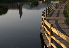 Pont et eau Photo stock