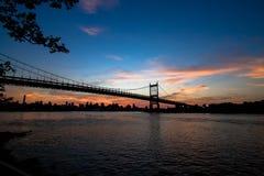 Pont et Manhattan de Triborough Photos stock
