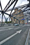 Pont et manoirs en acier de Broadway, Changhaï Image libre de droits