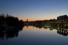 Pont et Murazzi d'Umberto I Photographie stock libre de droits