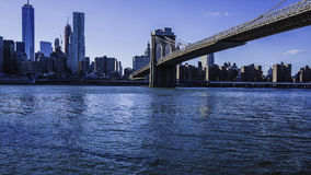 Pont et paysage urbain de New York Brooklyn Photos stock