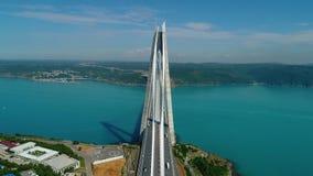 Pont et vue panoramique de Bosphorus clips vidéos