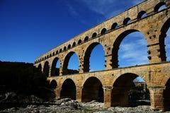 pont för akveduktdu gard Arkivfoton