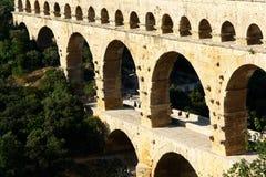 pont för akveduktdu gard Fotografering för Bildbyråer