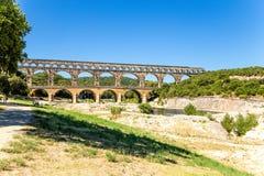 pont för du france gard Antik akvedukt, I-århundradeANNONS Inklusive i listan av UNESCO Arkivfoto