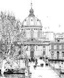pont för konstdes paris Arkivbilder