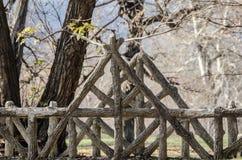 Pont fait à la maison en bois Photo stock