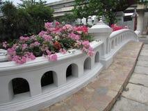 Pont fleuri Mini Siam Pattaya Thailand Photos libres de droits