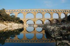 pont för du france gard Royaltyfri Fotografi