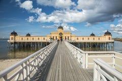 Pont froid de bain public de Varbergs Photo libre de droits