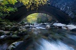 Pont fumeux en montagnes Photos libres de droits