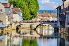 Pont grand dans Ornans Photographie stock
